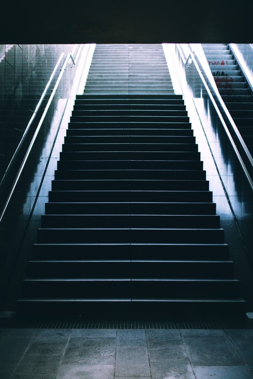 Staircase : Just go up the steps you can see and you will see more as you go !